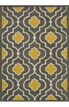 """Grey & Yellow Rug for the """"new"""" bedroom"""