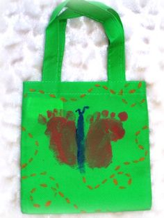 Toddler Craft Idea: Butterfly Footprint Bag