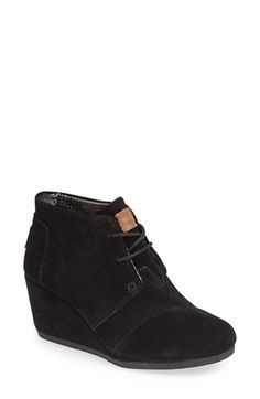TOMS 'Desert' Wedge Bootie (Women) available at #Nordstrom