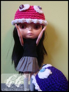 Chelle-Chelle.com – Crochet, Knit, Craft » Blythe Monster Hat – Free Crochet Pattern