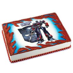 Transformer Cake Decorating Idea-Transformers Optimus EDIBLE CAKE IMAGE DECORATION