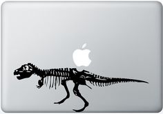 T-Rex Dinosaur laptop DECAL- macbook iPad computer- Gadget Art / Accessory - life size - nature  Geek Chic perfect gift