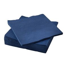 From 3.79 Ikea - Fantastisk - 50 Paper Serviettes/paper Napkins 40 X 40 Cm. 3-ply. Dark Blue