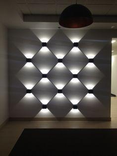 View by night - Fantastic lines of light created using Prolicht Dice. #Interiordesign #lightingdesign #homedecor #project