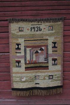 Todella hyväkuntoinen ja kaunissävyinen ryijy vuodelta x Advent Calendar, Wool Rug, Textiles, Rugs, Holiday Decor, Wall, Home Decor, Eggs, Farmhouse Rugs