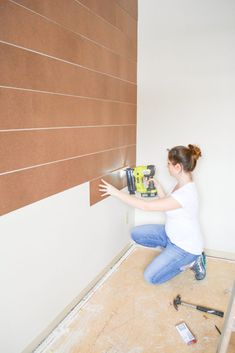 How Japanese Interior Layout Could Boost Your Dwelling Diy Shiplap Wall Budget Friendly Faux Shiplap Accent Wall From Bitterroot Diy Diy Wand, Home Renovation, Home Remodeling, Faux Shiplap, Diy Shiplap Walls, Shiplap Ceiling, Faux Brick Walls, Style Deco, Up House