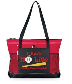Large 20  Baseball MOM Sports Bag with Glitter