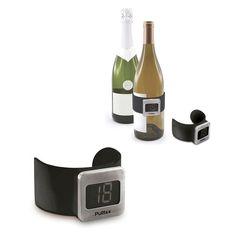 Termométro para vino, fácil de usar. Manten tu bebida en la termperatura exacta gracias a esta propuesta de merchandising regalo promocional para vino.