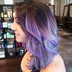 purple and Silver Balayage