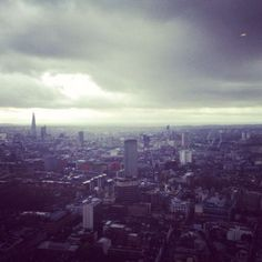 London town, as seen from the top of bt tower.
