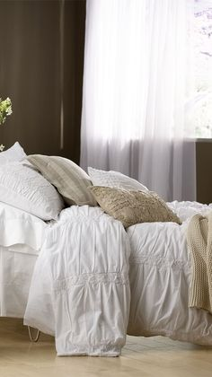 sOUP Saaremaa Bedding  I'm in midst of bedroom makeover and I'm just drawn to the fluffy white bedding. Sigh...bns
