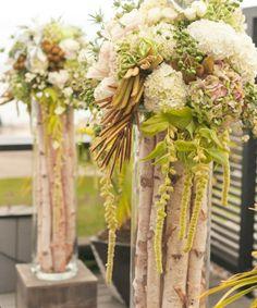 Rustic wedding displays