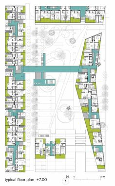 A101 Urban Block Competition Proposal / b4 Architects,typical floor plan