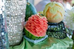 Boulevard Brewery Wedding | Thai Fruit Sculptures | Classic Catering Kansas City