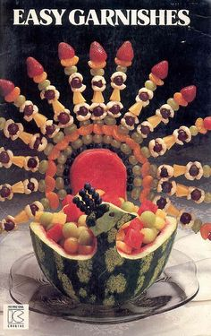 Another Thankgiving fruit turkey!  We love these pix! **perfect drizzled w/ rose petal, pomegranate or how about dipping in chocolate chip #Saladshots? www.Saladshots.com