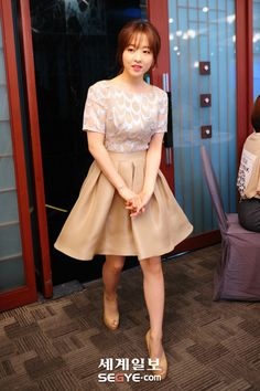 Park Bo-young - Striped Dress - Korean Fashion LookBook - SweetNARA