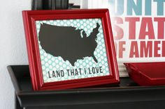 Land that I love - 4th of July Decoration