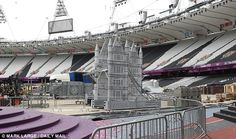 Pack it up: The set was taken away from the empty stadium. August 13, 2012.  .....Olympics- London, England