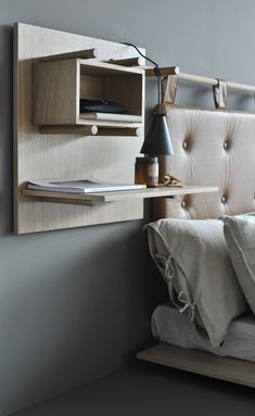 Sjekk det ut! Decor, Furniture, Shelves, Lamp, Floating Nightstand, Floating, Home Decor, Nightstand, Bedroom