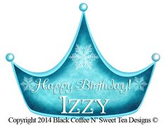Ice Princess Stickers Frozen Inspired Personalized by Black Coffee N' Sweet Tea Designs $5.95 per sheet with choice of sizes. Use PIN10 Coupon Code for 10% any purchase!