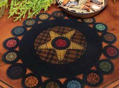 Penny Rug from Primitive Gathering - can't wait to get started but have to finish Christmas stocking I am working on first