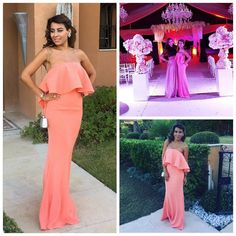Wow, check out gorgeous @aminaminouch looking so beautiful in #JarloLondon #HighSummer15 #Lily maxi dress in pink! Thank you for sharing, we love your look!