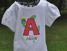Personalized Monogrammed First Day of School by JadabugBoutique, $20.00