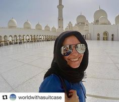 A beautiful place of worship. with checking out abu dhabi and this beautiful mosque Beautiful Day, Beautiful Places, Beautiful Mosques, Instagram Feed, Instagram Posts, Place Of Worship, Abu Dhabi, Uae, Gopro
