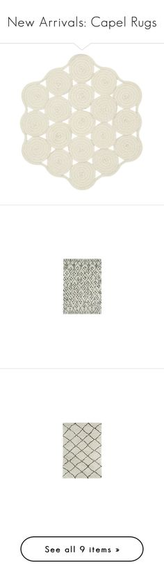 """""""New Arrivals: Capel Rugs"""" by zincdoor ❤ liked on Polyvore featuring home, rugs, ivory area rug, beige rug, hexagon rug, braided area rugs, braided rugs, capel rugs, cream colored rugs and beige wool rug"""