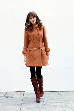 Camel+Zweireiher+mit+Kapuze+Wollmantel+NC423+von+Rosalind+Dress+(Custom+without+extra+cost)+auf+DaWanda.com
