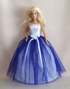 Handmade Barbie Clothes White Satin Barbie by PersnicketyGrandma, $12.00