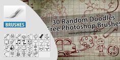 30 Random Doodles Free Photoshop Brushes Free Photoshop, Photoshop Brushes, Random Doodles, Photoshop Illustrator
