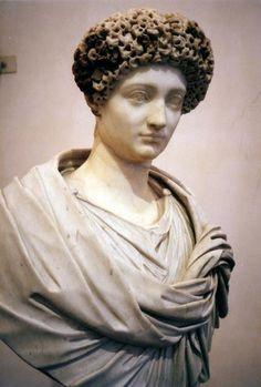 Portrait of Julia Flavia (Julia Titi), daughter of Emperor Titus. Roman, marble, c.