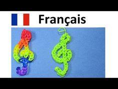 ▶ Bracelet Elastique || Cle de Sol || Rainbow Loom Francais Tuto / Loom Bands - YouTube