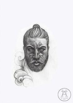 Specialising in tamoko, tattoos and illustrations in Whakatane, NZ, Te Haunui Tuna focuses on pushing the boundaries of Maori art with his contemporary style. Polynesian Tattoo Designs, Maori Designs, Yogi Tattoo, Tattoo Art, Tiki Head, New Zealand Tattoo, Assassins Creed Art, Nz Art, Hawaiian Art