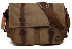 Buy Men's Shoulder Bag Vintage Military Canvas Leather Messenger Laptop School Cross Bag - Yellow - and find your ideal Men Messenger Bags at affordable prices and fast shipping. Military Messenger Bag, Vintage Messenger Bag, Canvas Crossbody Bag, Canvas Messenger Bag, Messenger Backpack, Canvas Backpack, Leather Camera Bag, Leather Crossbody Bag, Leather Bags