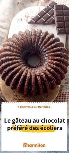 Ce gâteau fait partie du top des recettes sur Marmiton : un bon gâteau au chocolat plébiscité par petits et grands #chocolat #gateau #recette #cuisine #marmiton #gouter #dessert