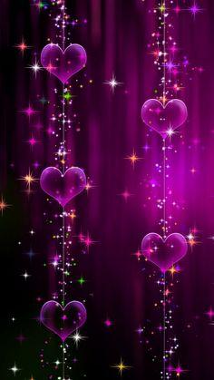 Purple Heart 💜 on string JCM Heart Wallpaper, Purple Wallpaper, Butterfly Wallpaper, Cute Wallpaper Backgrounds, Love Wallpaper, Cellphone Wallpaper, Pretty Wallpapers, Mobile Wallpaper, Iphone Wallpaper