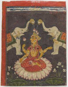 Gajalakshmi Basohli, late 17th century