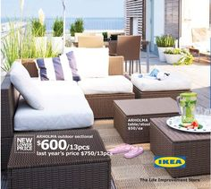 ikea outdoor furniture good price to make a couple different lounge areas outdoors?