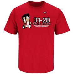 Red T-Shirt Smack Apparel Kansas City Football Fans Stay Victorious Sm-5X Anti-Broncos /& Raiders