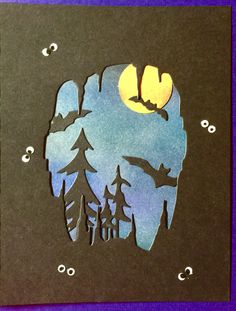 This card was made using the following dies, Memory Box Bat Cave Cutout 99188 & Frantic Stamper Tall Pine Trees FRA-DIE-09177.  These dies can be found at ascrapnplace.com