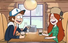 An old request. Dipper and Wendy dating at the same age.