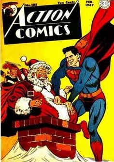 Christmas greetings from Action Comics and Superman