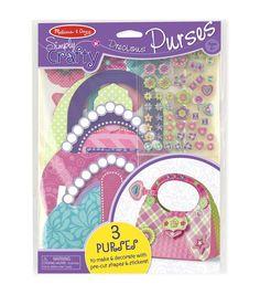 Melissa & Doug Simply Crafty Precious Purses Kit Makes 3
