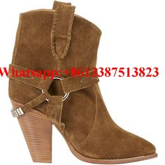 102.99$  Watch more here - http://ais3a.worlditems.win/all/product.php?id=32799799212 - Etoile Rawson Suede Ankle Boots Embroderied Ring Harness Chunky Spikes High Heels Slip-On Women Boots Brand Ladies Shoes Woman