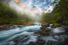 The Valley - Romsdalen, Norway. Blend of two - one to freeze the foliage and one to smooth the water (Nisi 6 stop).