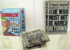 Daily Prophet Newspapers from Harry Potter in dollhouse miniature (1/12 scale) by LittleWooStudio
