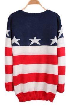 Adorable america flag sweater