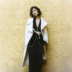 #Agnona white wide lapel overcoat in #Alpaca degrade, spotted on #ModernLadyMagazine  #Chrstmas2015 #Christmas